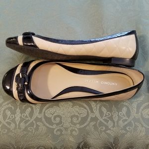 📢 Antonio Melani | Quilted Patent Leather Flats